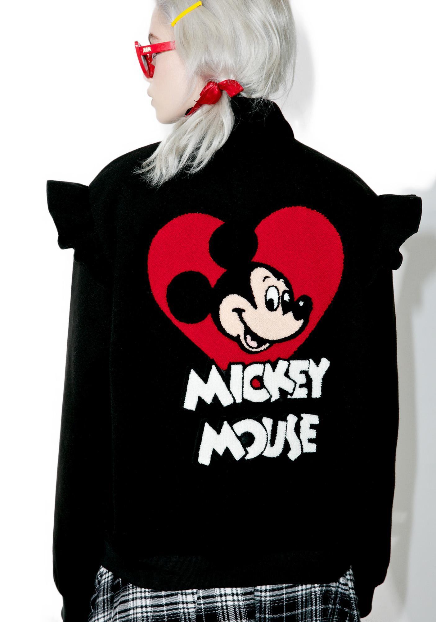 X Disney Mickey Mouse Bomber Jacket Mickey Mouse Jacket Embroidered Bomber Jacket Bomber Jacket [ 2000 x 1405 Pixel ]