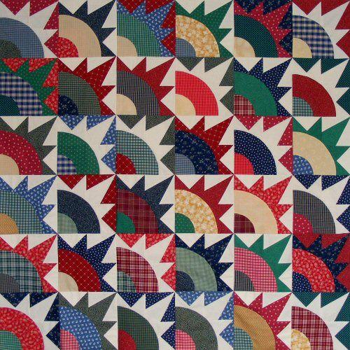 Santa's Rising Sun Quilt Pattern tutorial. http://www.victorianaquiltdesigns.com/VictorianaQuilters/BlockoftheMonth/SantasQuiltPatternTutorial.htm #quilting