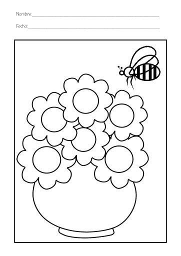 Dibujos para colorear de la primavera   Decoración   Pinterest   La ...