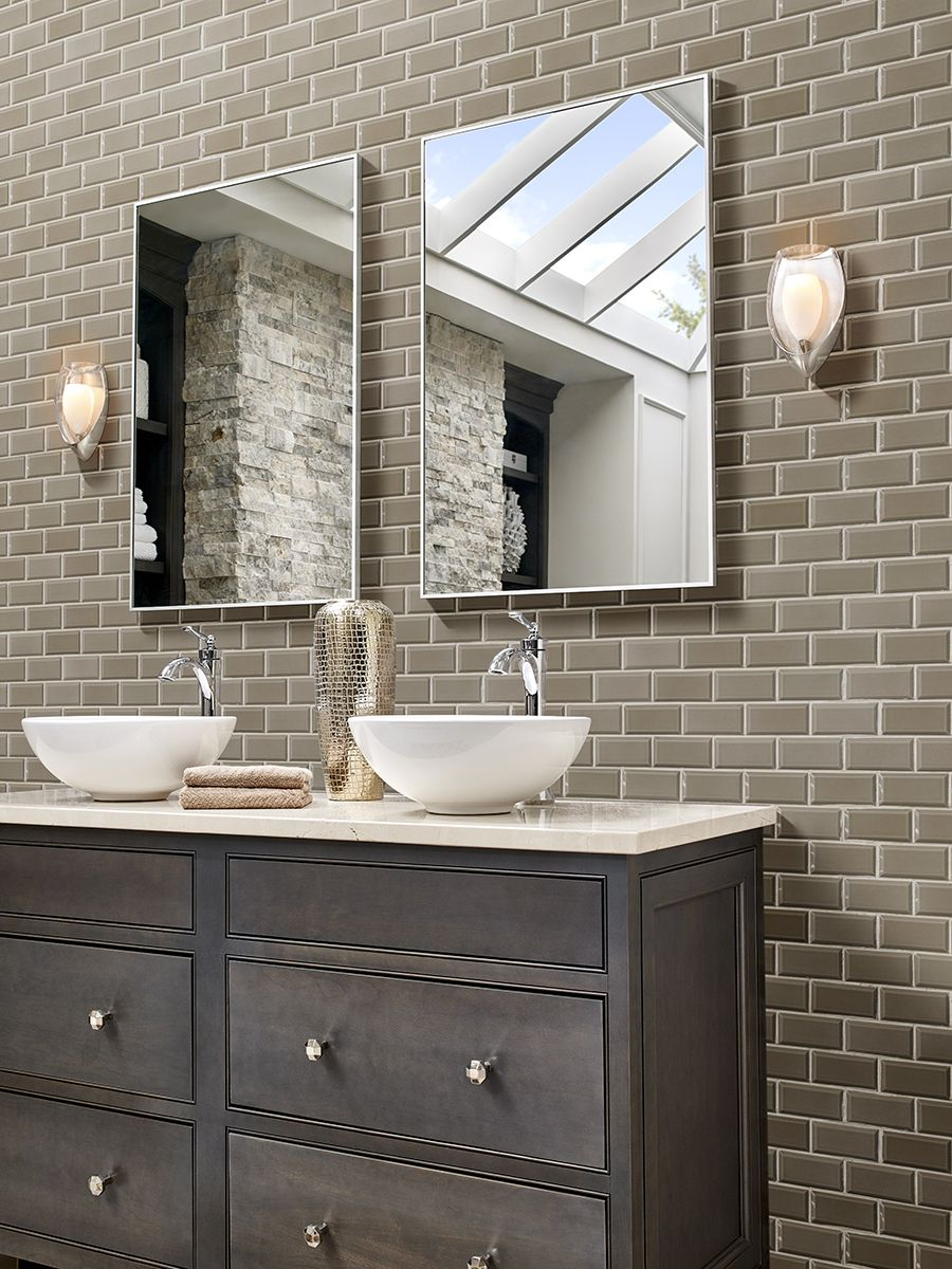 Taupe Subway Tile 2x4 Inside Pinterest Subway Tiles Taupe And