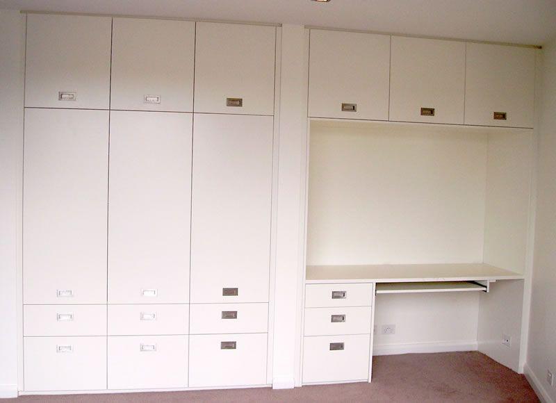 Polyurethane Hinged Cupboard With Desk Study Unit