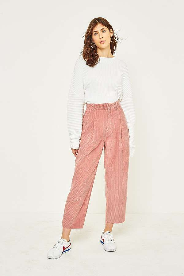 e1f12dd1508f0 Slide View  1  BDG Pink Corduroy Cocoon Trousers