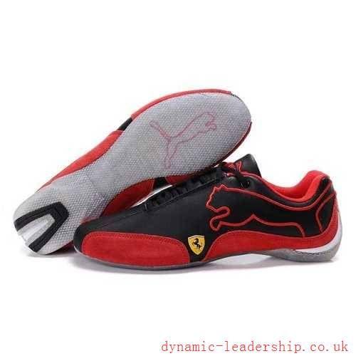 new-puma-ferrari-speed-cat-men-s-shoes-black-varsity-red-on-sale ... b31cd9589