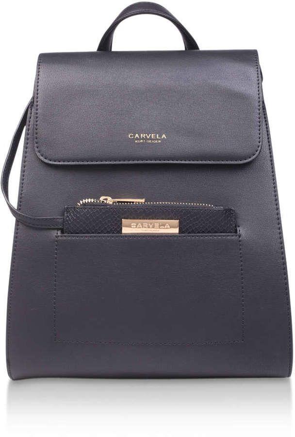 Backpack With Pocket - Grey Carvela PvwfV3