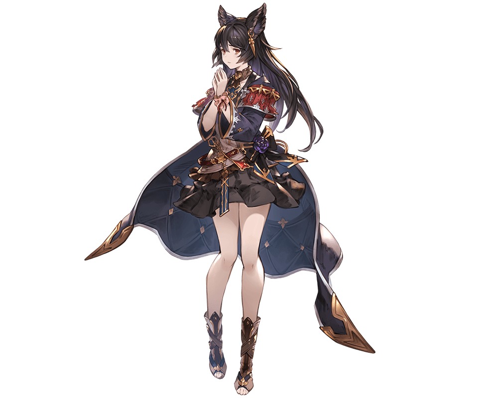 Safebooru 1girl Animal Ears Bangs Belt Black Hair Closed Mouth Earrings Erune Full Body Gran Animal Ears Granblue Fantasy Characters Female Character Concept