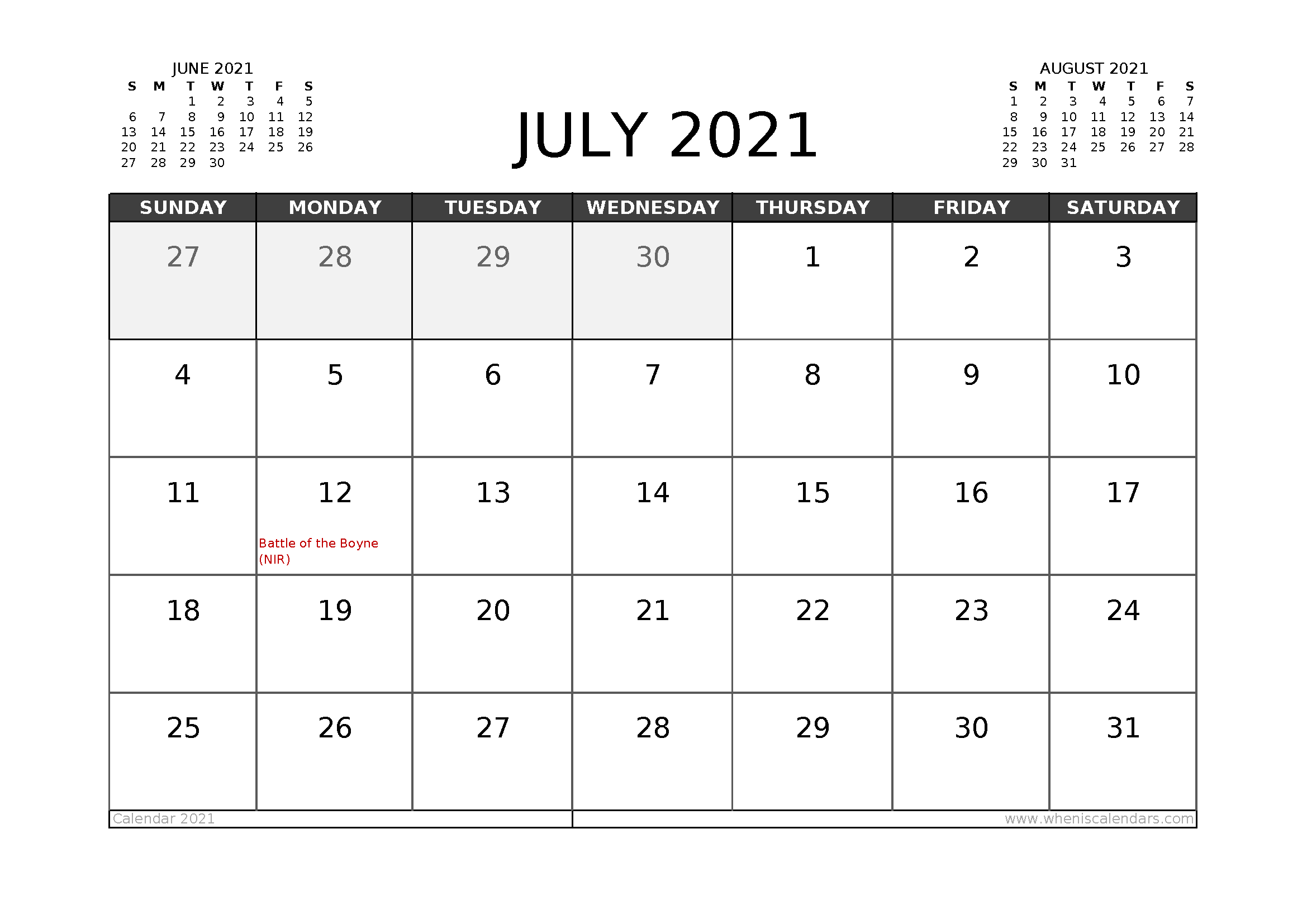 Free July 2021 Calendar Uk Printable In 2020 Calendar Uk 2021 Calendar Calendar Australia