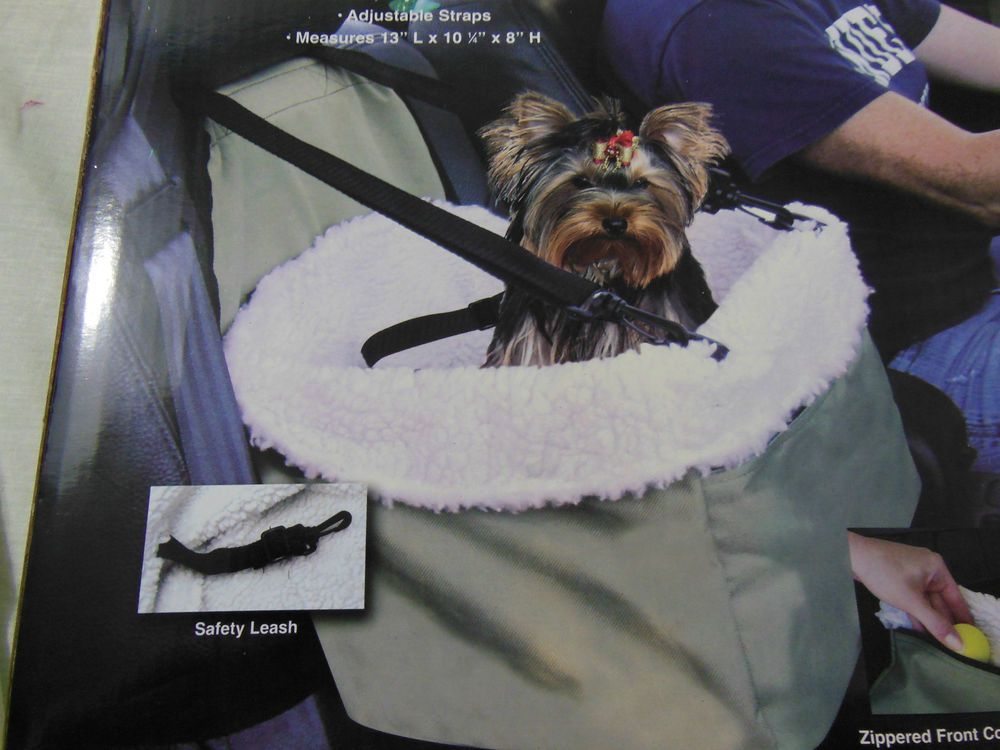 DOG CAR SEAT BOOSTER SEAT WITH REMOVABLE FAUX SHEEPSKIN