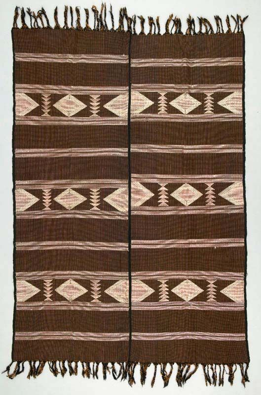 Africa | Wrapper from the Igbirra people of Okene, Kogi State, Nigeria | ca. 1960 - 80 | Cotton, rayon.: