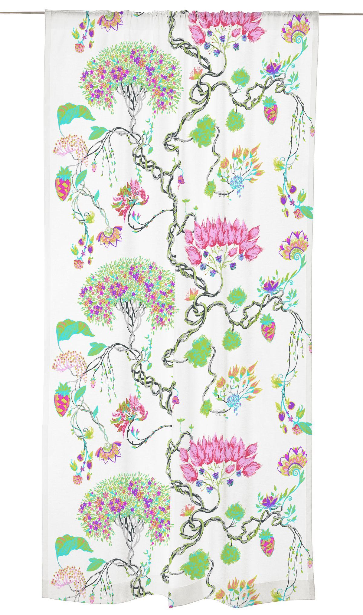 Bonsai on Matleena Issakaisen suunnittelema kukkakuvioinen, hyväntuulinen ja värikäs kuosi.