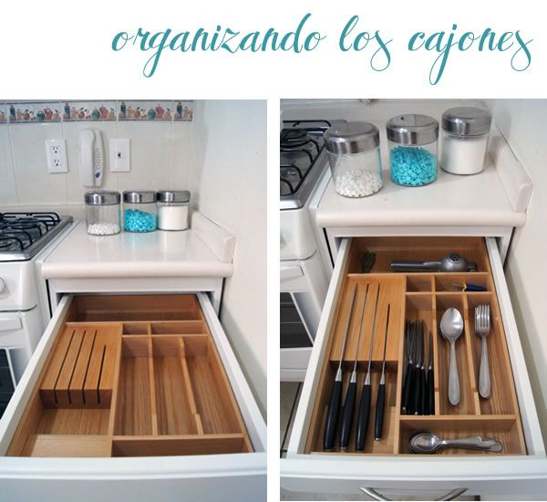 Drawer organizer for my kitchen organizador de caj n de for Organizador de utensilios de cocina
