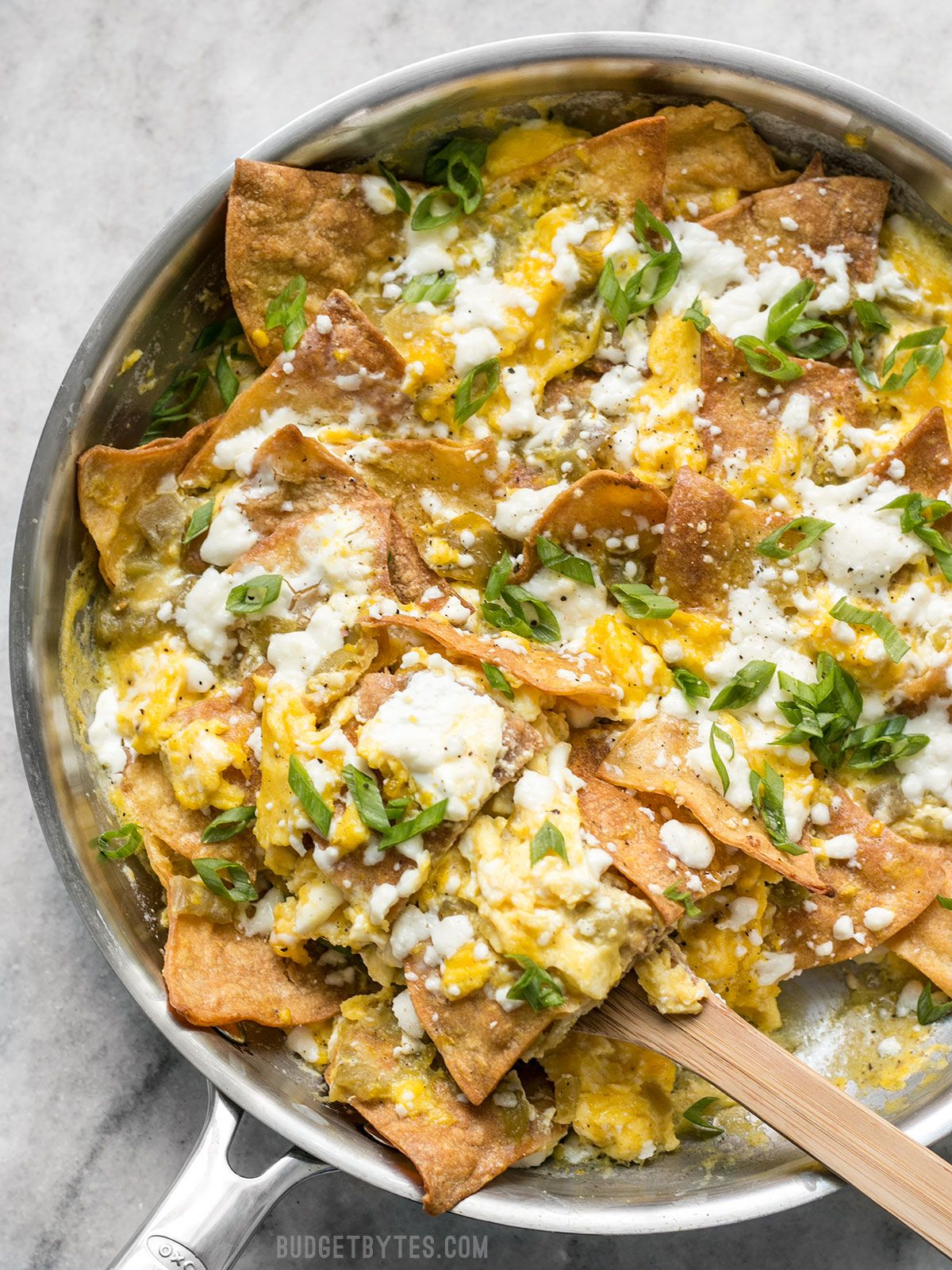 Green Chile Migas - Easy Breakfast or Brunch - Bud