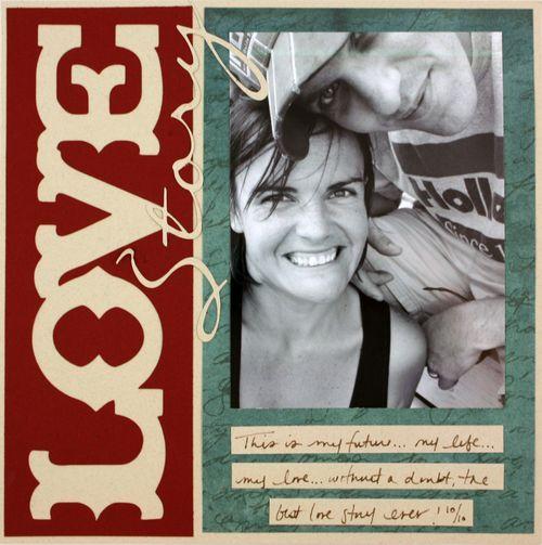 Love 8 x 8 Scrapbook Layout Idea....Reminisce Accents Cricut Cartridge from Creative Memories...Reminisce Paper