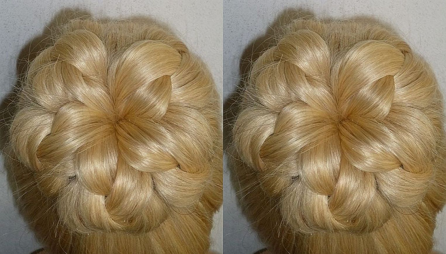 Easy and quick promwedding hairstyleevening donut hair bun updo