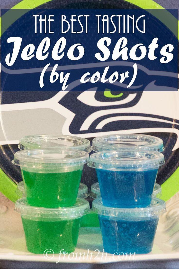 Best tasting jello shot recipes (by color) #jelloshotrecipes