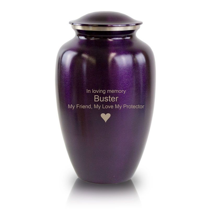 Luxurious Violet Cremation Urn | Pet Urns 2018 | Pet