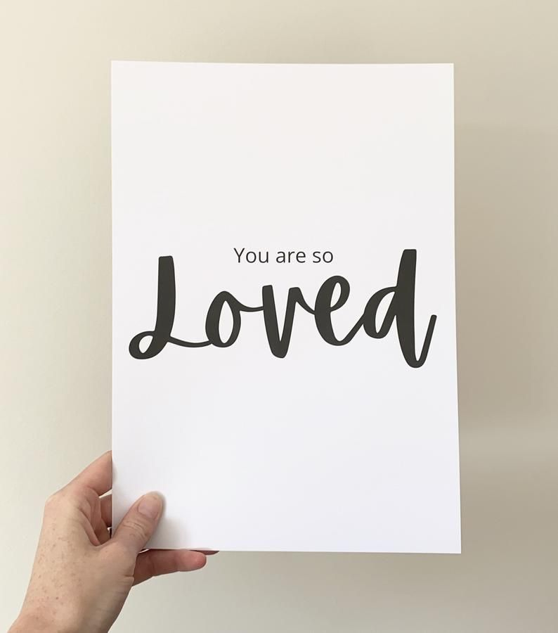 You Are So Loved Print  FREE P&P   Etsy