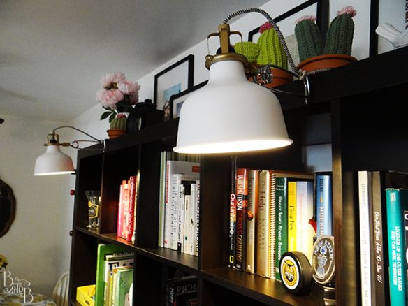 Bookshelf Lamps Ikea Chevron Wrapped Cord Spotlights From