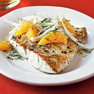 Heart-Healthy Seafood Recipes   Sautéed Snapper with Orange-Fennel Salad   CookingLight.com