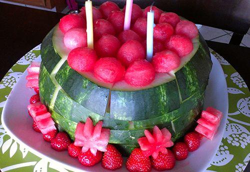 Watermelon birthday cake for babys first birthday recipes