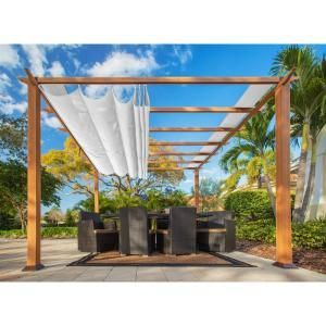 Aluminum Frame Pergola With A Convertible Top That Can Be Manually Opened And Closed To Allow Just The Right Amount Of Outdoor Pergola Aluminum Pergola Pergola