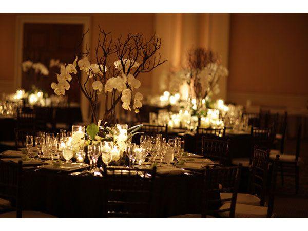 decoracin de boda elegante en negro