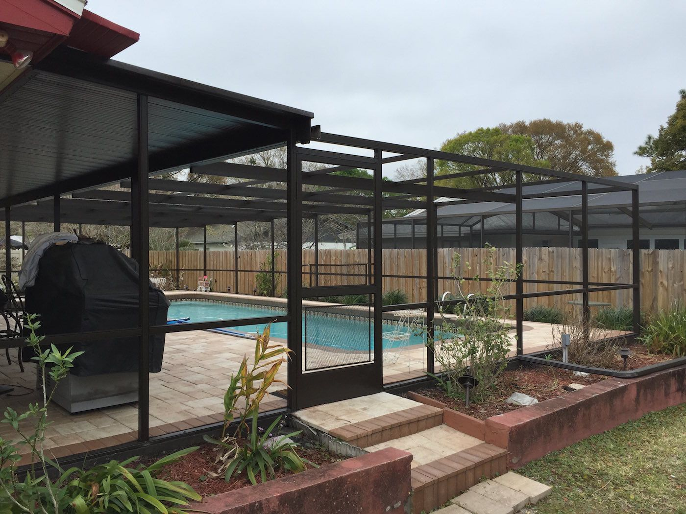 Swiming Pools Pool Enclosure With Patio Furniture Clearance Also And Deck Ideas Outdoor Floor