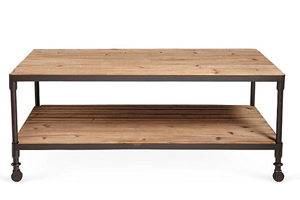 One Kings Lane oak coffee table, $599, available at One Kings Lane