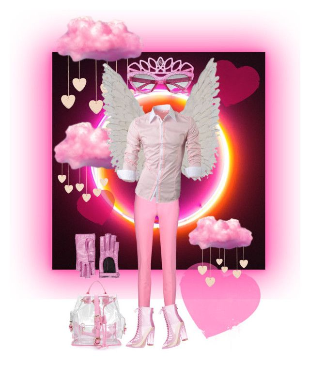 """""""angelangel"""" by badstan ❤ liked on Polyvore featuring Cloverpost, Raoul, River Island, Gucci, men's fashion and menswear"""