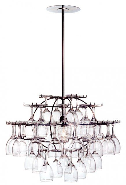 wine glasses chandelier