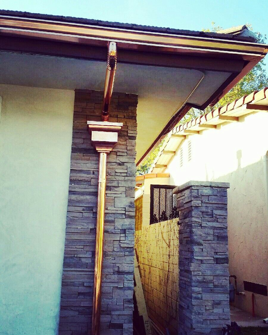 Copper Rain Gutters Gutters Structures