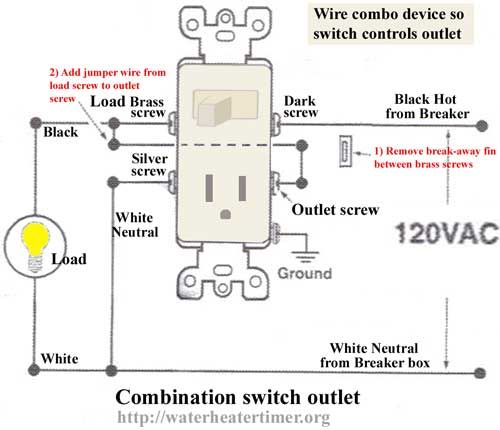 How To Wire Combo Device Wire Switch Outlet Wiring Electrical Switches