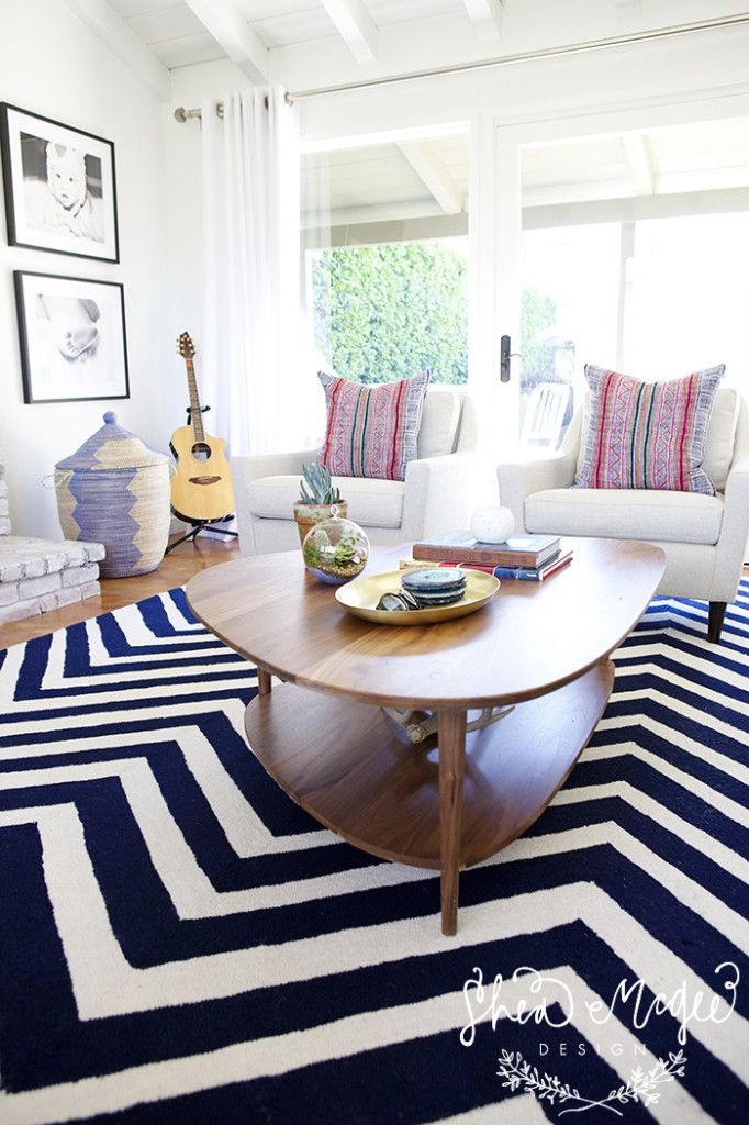 navy white with pops of pink shea mcgee design living rooms rh pinterest com