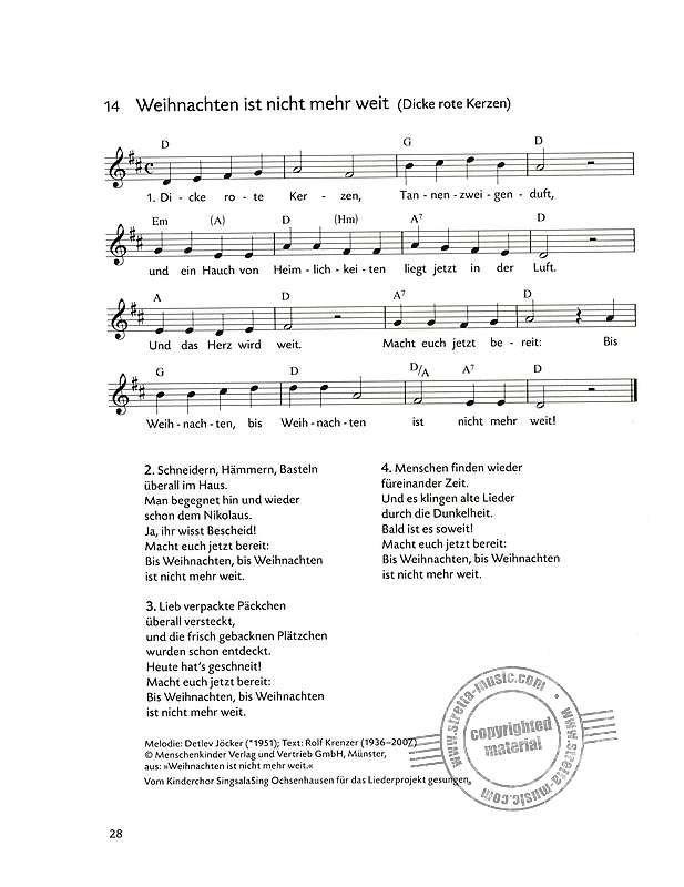 Weihnachtslieder Für Kinderchor Noten.Weihnachtslieder Für Kinder Im Stretta Noten Shop Kaufen