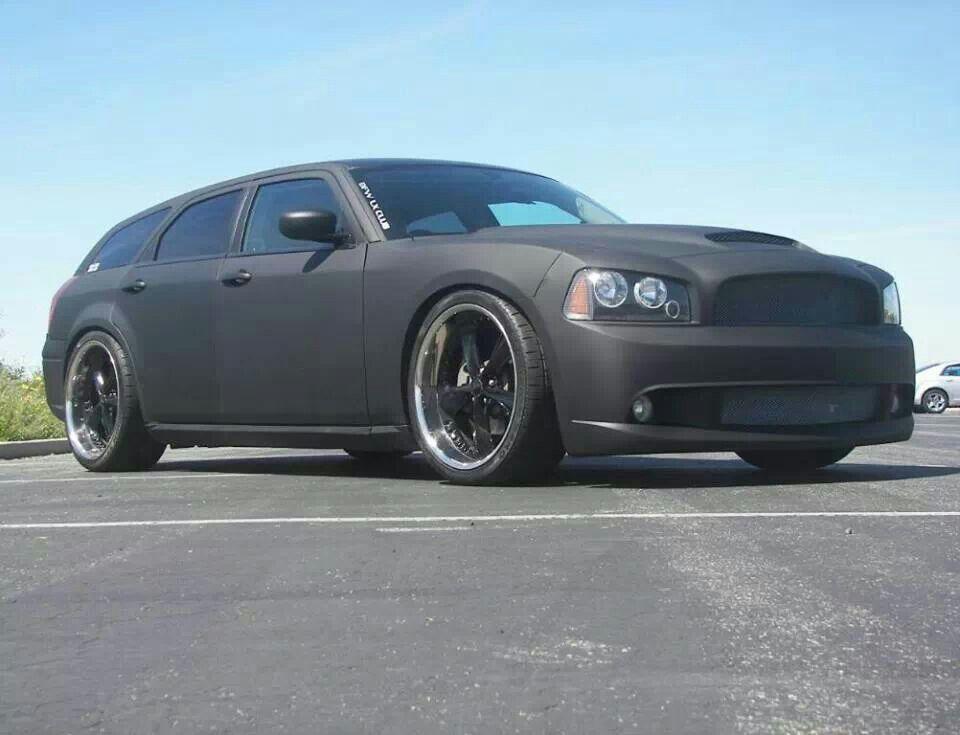 Chargum In Matte Black Dodge Magnum Matte Black Cars Dodge Wagon