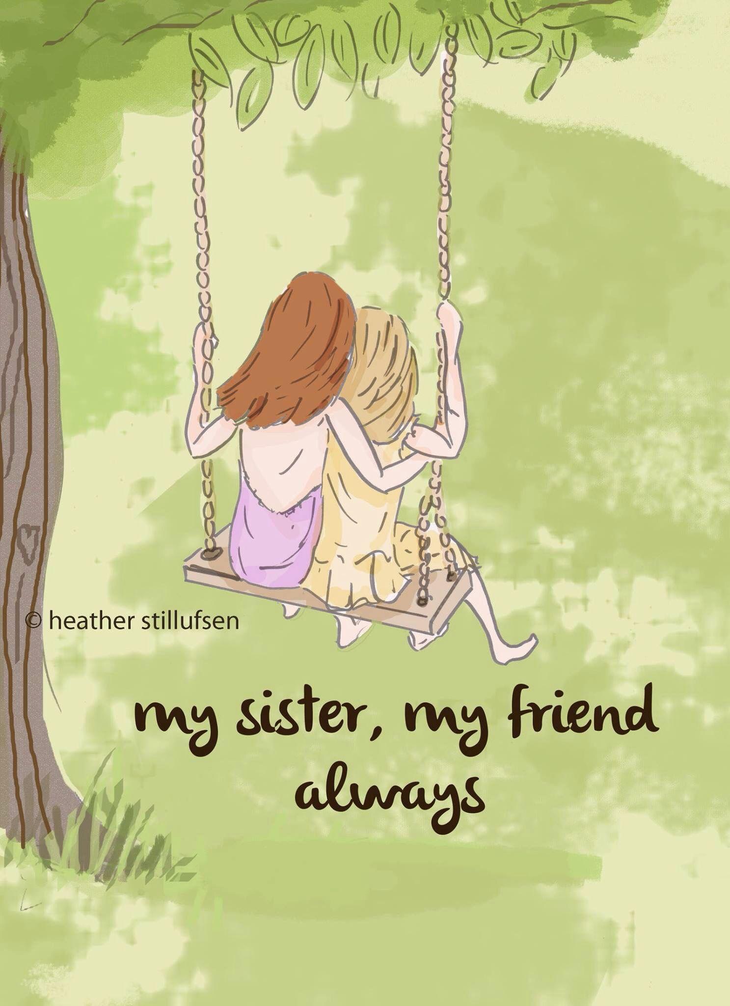 Sister Wall Art - Sisters Digital Art Print - Sisters - Children\'s ...