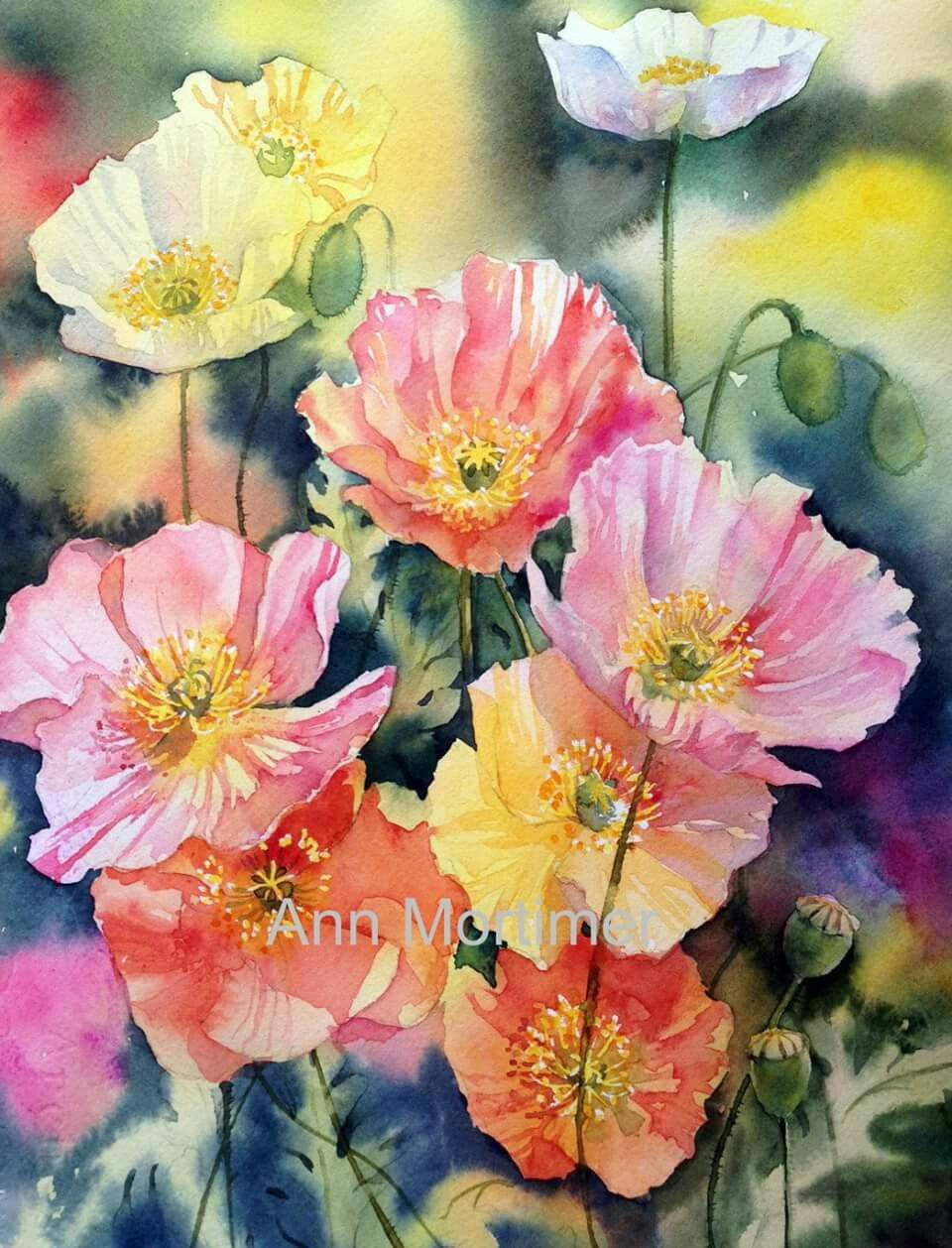 Pin Von Aranka Karl Auf Diverse Aquarelle Acrylbilder Olbilder Blumen Gemalde Blumen Malen Und Aquarell Blumen