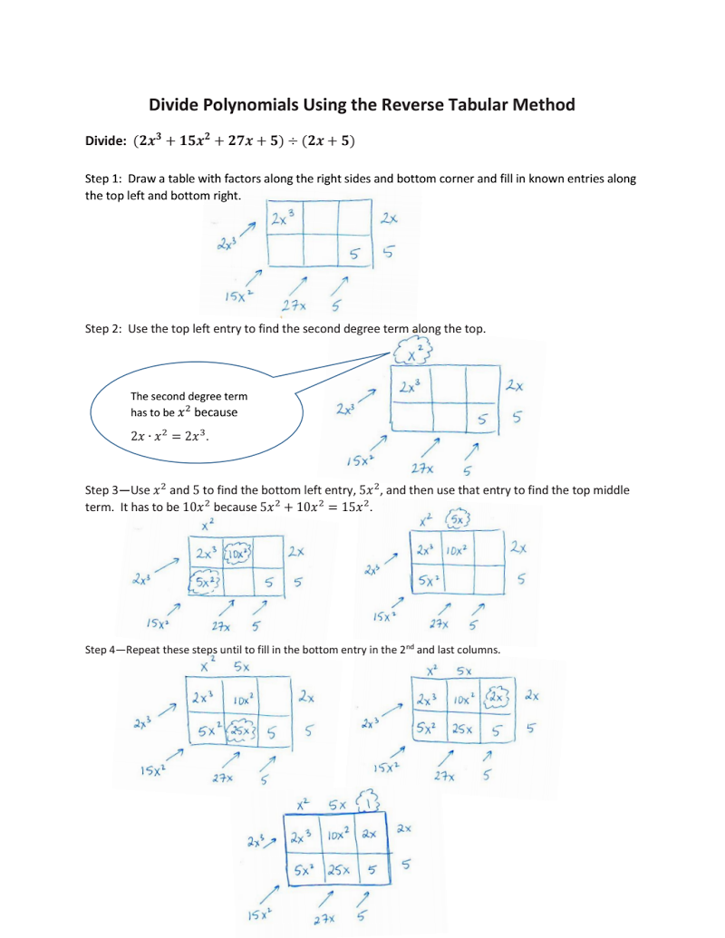 This example demonstrates how using the reverse process of the ...
