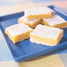 Perfect lemon bars - love lemon bars!
