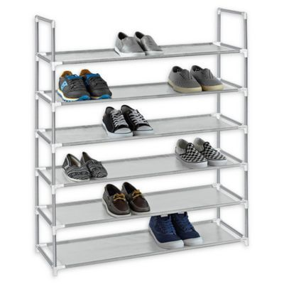 Studio 3b 6 Tier Fabric Shoe Rack In Grey Stackable Shoe Rack Plastic Shoe Rack Shoe Storage Rack