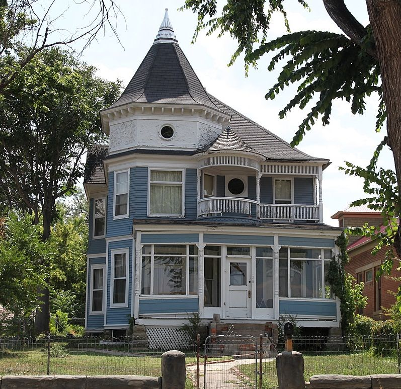 impressive victorian country house decor stick out luxurious taste unique cone roof blue painted victorian - Exterior Home Decorations