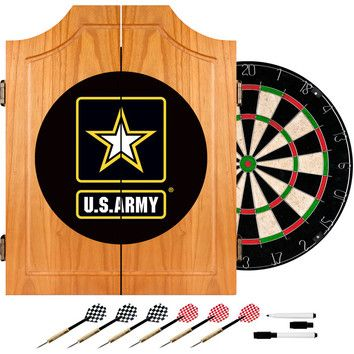 U S Army Wood Dartboard Cabinet Set Dart Board Cabinet Dart Board East Carolina Pirates