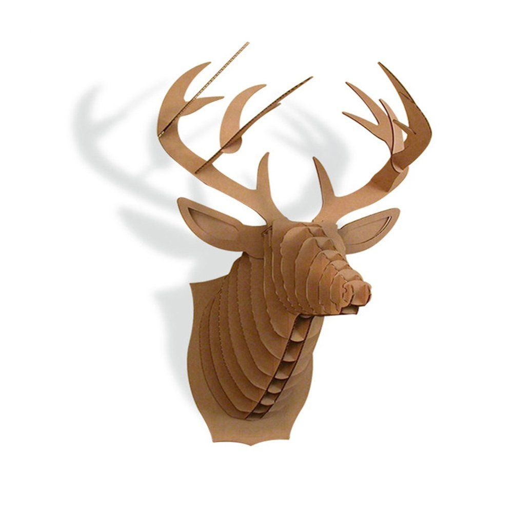 Amazon paper maker cardboard 3d deer head wall decoration art amazon paper maker cardboard 3d deer head wall decoration art animal head wall amipublicfo Image collections