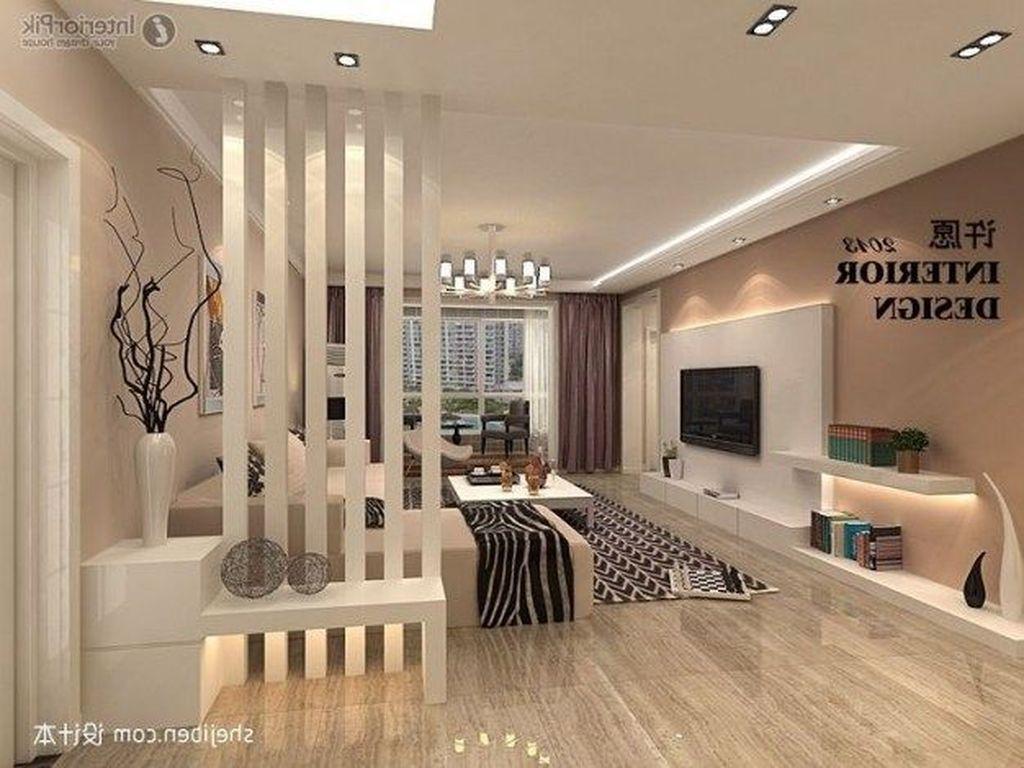 Stunning Modern Partition Design Ideas For Living Room 35 Small Room Design Living Room Partition Modern Room Divider