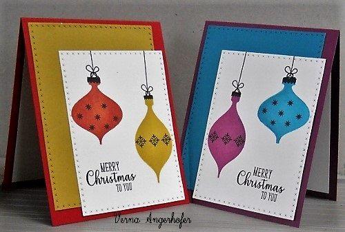 verna angerhofer  xmas cards cross stitch borders cards