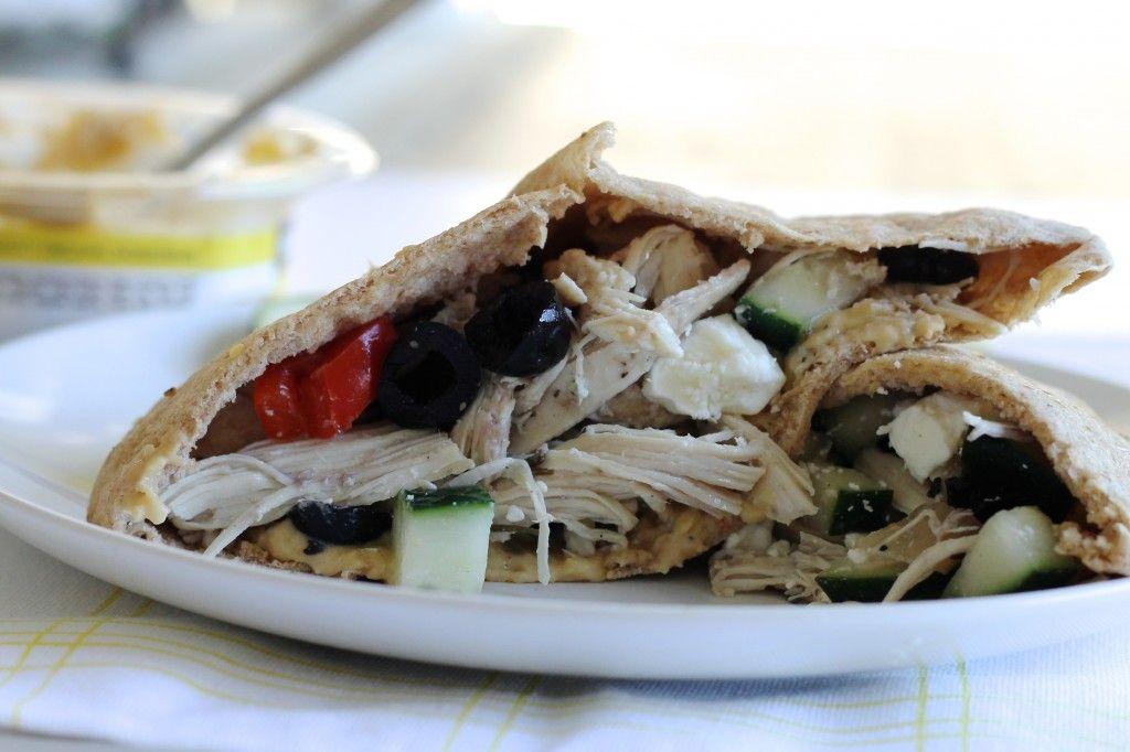 Mediterranean Chicken Pita Sandwiches - Little Chef Big Appetite