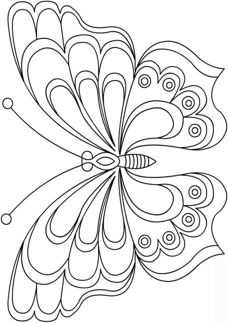 Pin By Mervan Altinorak On 3d Kelebek Butterfly Coloring Page Butterfly Drawing Butterfly Template