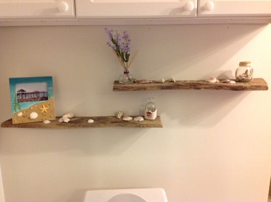 Rough Sawn Lumber Scraps Turned Into Floating Shelves