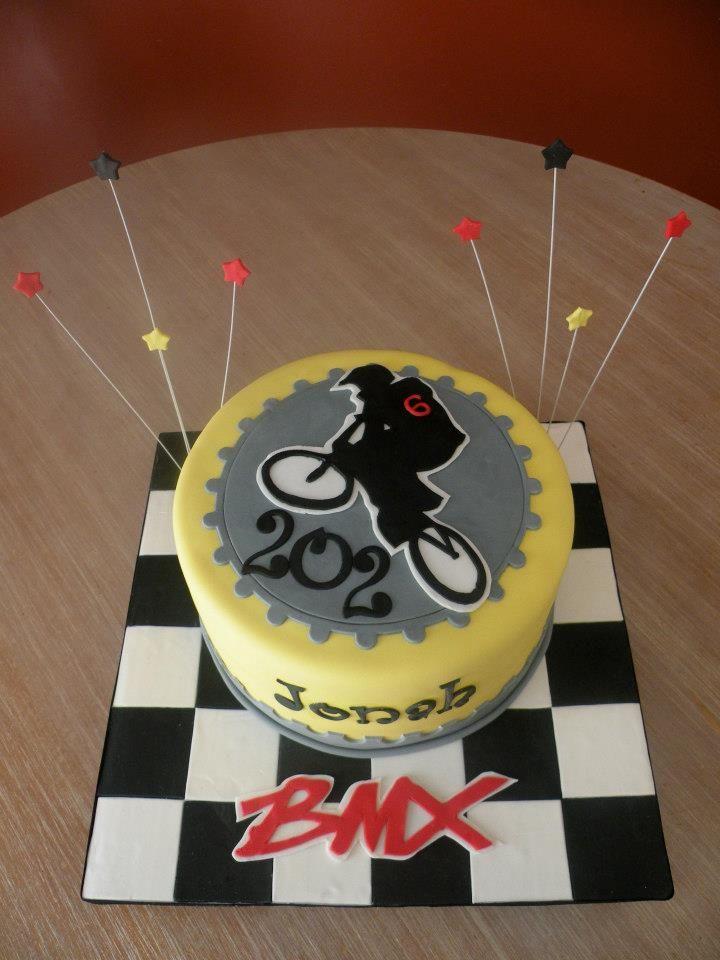 Bmx Themed Cake Cake Chick S Cakes Pinterest Bmx