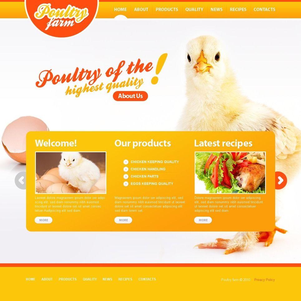 Poultry Farm PSD Template
