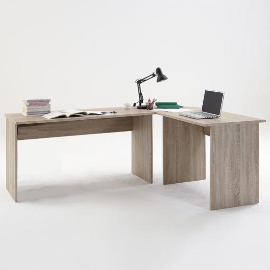 Till Modern Corner Computer Desk In Canadian Oak With Images